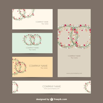 Business identity set floral design