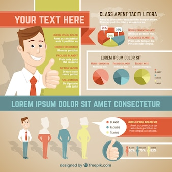 Business infographic in cartoon style
