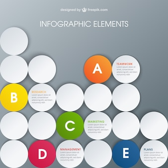 Business infographic with circles
