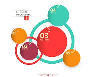 Business Infographics circle papers style