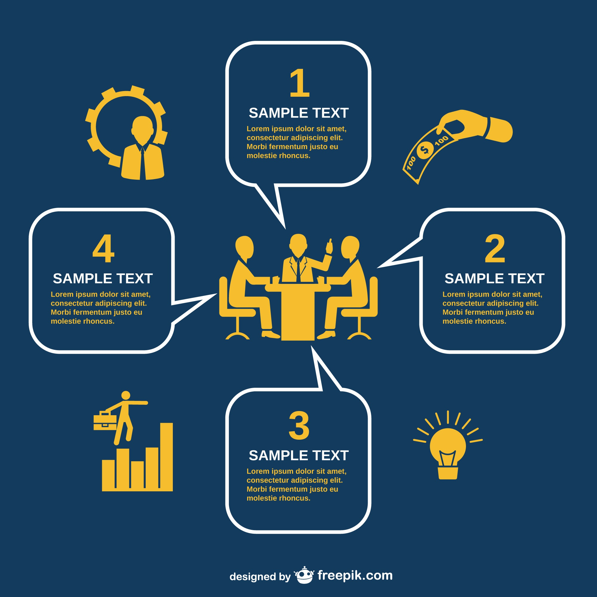 Business meeting infography