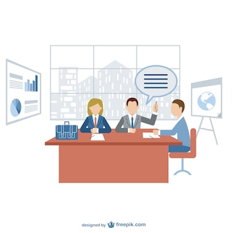 Business meeting vector free for dowload