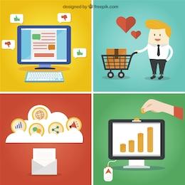 Business online concept