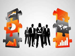 Business people corporation chart vectors