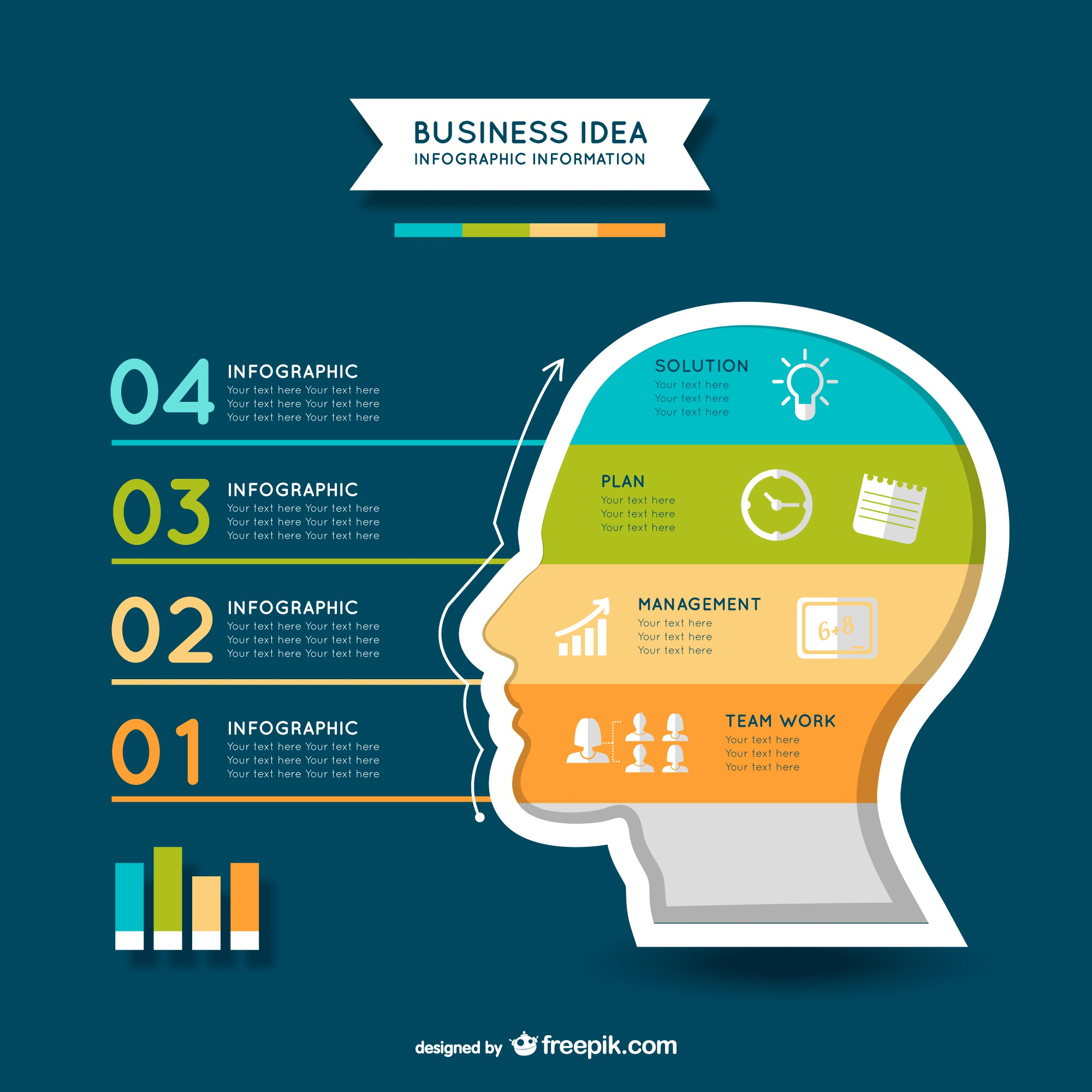 Business plan free vector infography