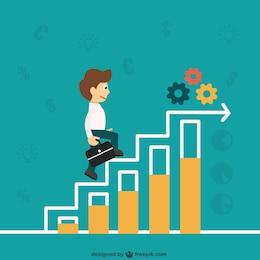 Business progress graphic