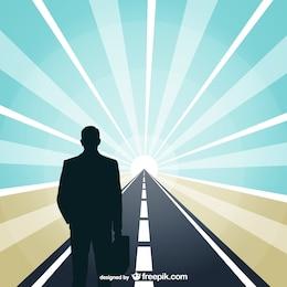Business road vector