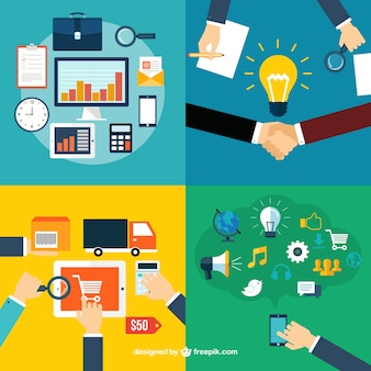Business roles icons
