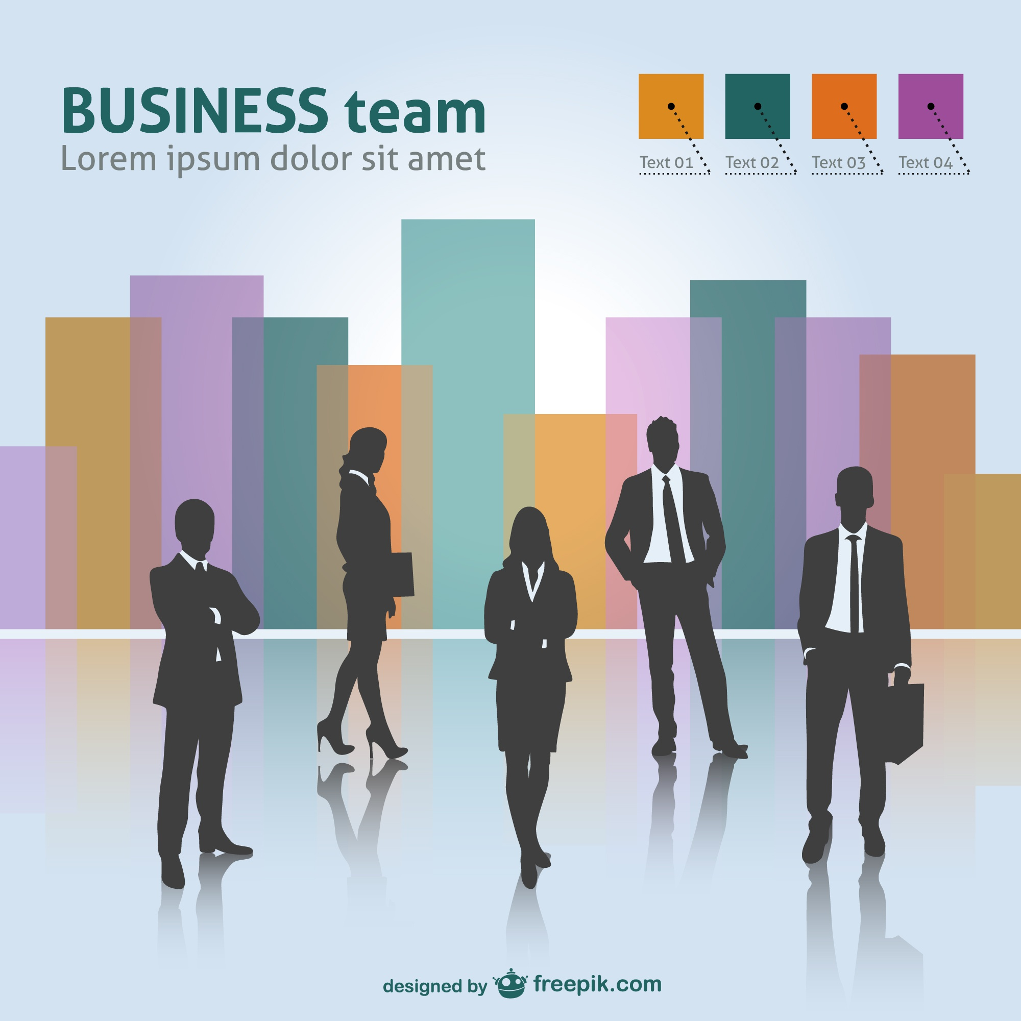 Business team vector free download