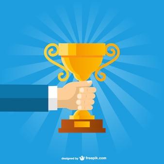Business trophy vector