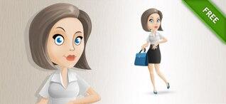 Business woman posing cartton vector