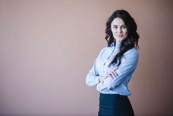 Business woman with arms crossed