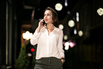 Business woman with the phone