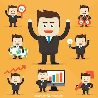 Businessman character cartoons