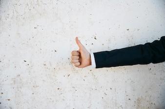 Businessman doing ok gesture