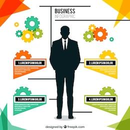 Businessman infographic