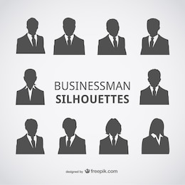 Businessman silhouettes avatars