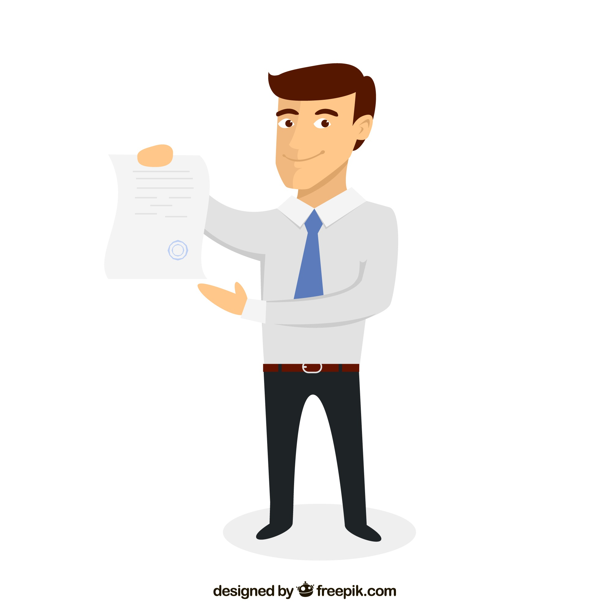 Businessman with a document