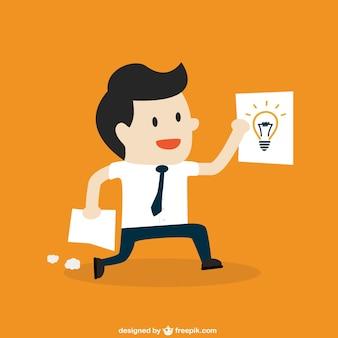 Businessman with idea