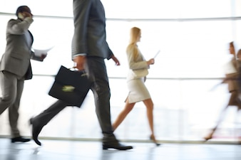 Businesspeople in movement