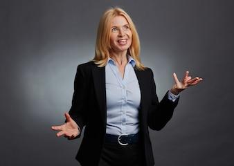 Businesswoman confident mature pretty profession