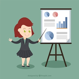 Businesswoman in a presentation