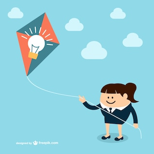 Businesswoman with kite