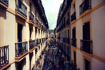 Bustling street