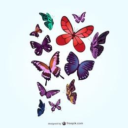 Butterflies free vector art