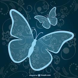 Butterflies vector free download
