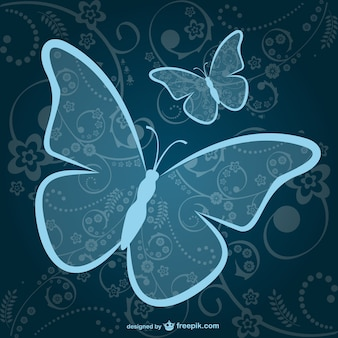 Butterflies vector free download