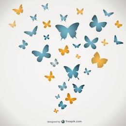 Butterflies vector template