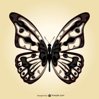 Butterfly vector art template