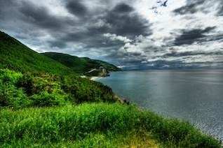 cabot trail scenery   hdr  picture