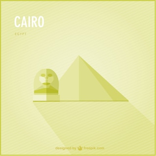 Cairo landmark vector