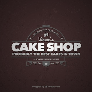 Vintage Cake Logo Design : Ecommerce Logo Vectors, Photos and PSD files Free Download