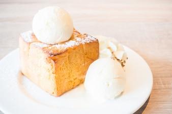Cake with icecream