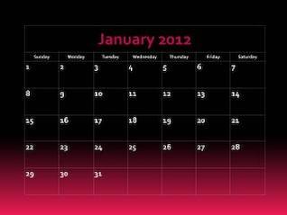 calendar   fade into pink