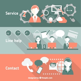 Call center banners