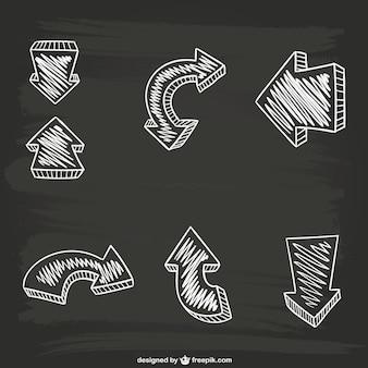 Calligraphic arrows