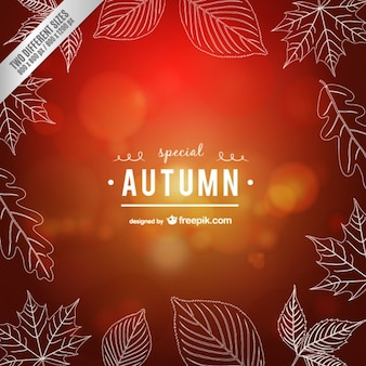 Calligraphic autumn vector
