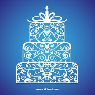 Calligraphic birthday cake