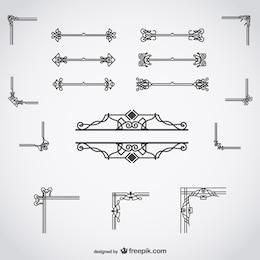 Calligraphic decorations set