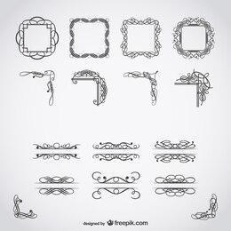 Calligraphic free vector art