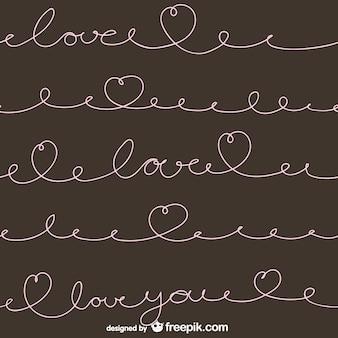 Calligraphic love pattern