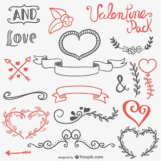 Calligraphic resources for Valentines Day