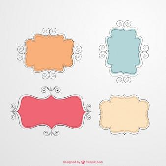 Calligraphic vector frames
