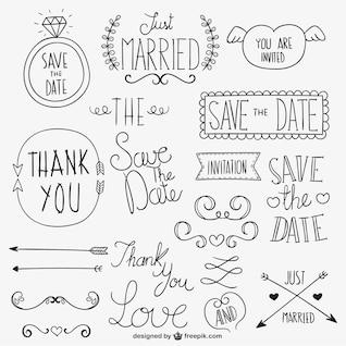 Calligraphic wedding ornaments
