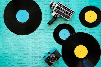 Camcorder, camera and vinyls