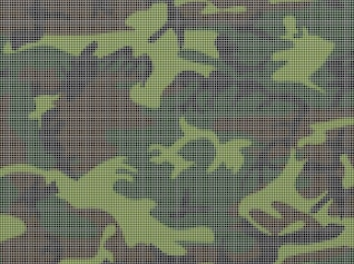 Camouflage grid army clothes pattern